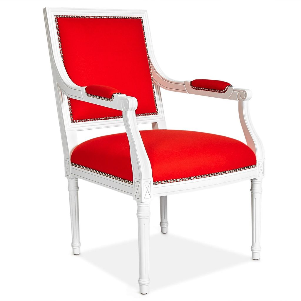 JONATHAN ADLER ORANGE LOUIS ARM CHAIR