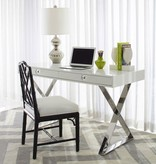 JONATHAN ADLER BLACK CHIPPENDALE SIDE CHAIR