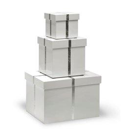 BUNGALOW 5 CHIFFANY RECTANGLE NESTING BOXES, WHITE