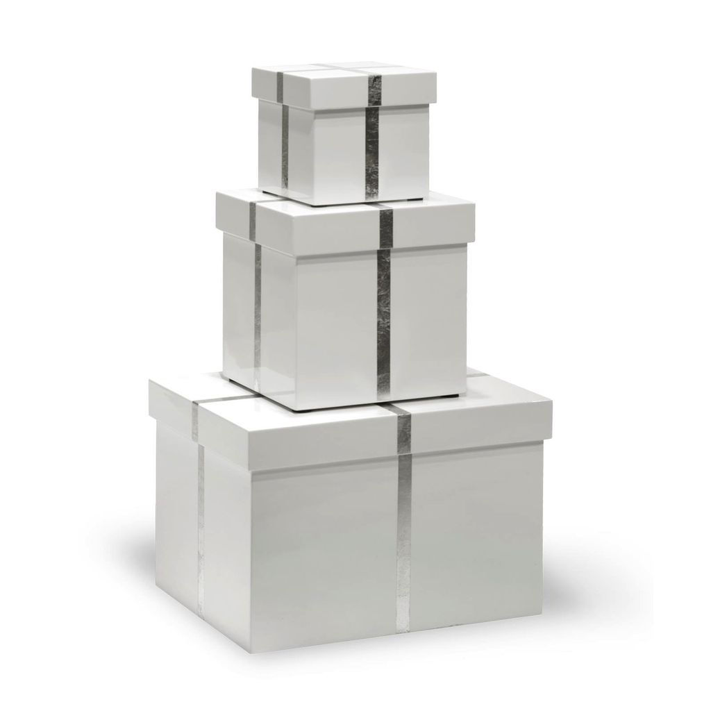 BUNGALOW 5 CHIFFANY RECTANGLE NESTING BOXES, WHITE