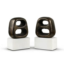 BUNGALOW 5 DELPHI BOOKENDS (PAIR), BRONZE