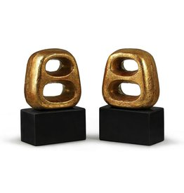 BUNGALOW 5 DELPHI BOOKENDS (PAIR), GOLD