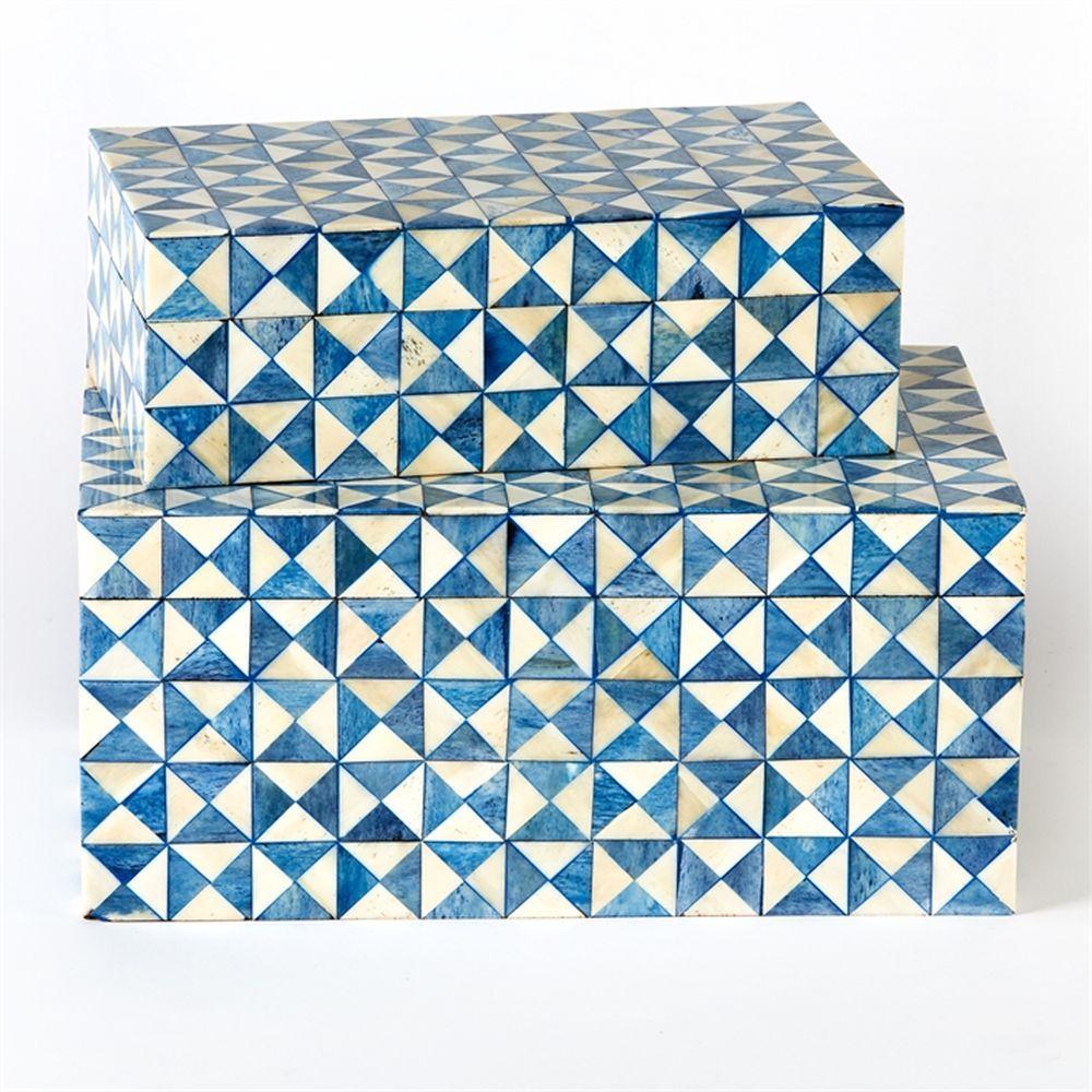TOZAI HOME BLUE OPTIC S/2 TINT BOXES