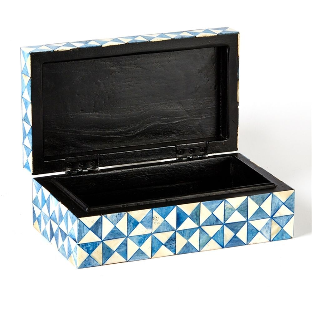 TOZAI HOME BLUE OPTIC S/2 TINT BOXES