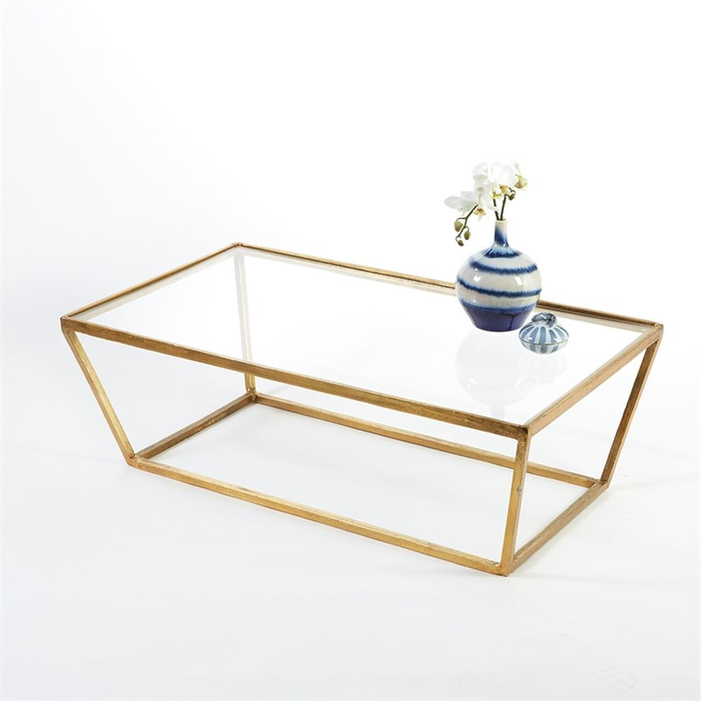 TOZAI HOME MARTIN LOUIS GOLD TABLE