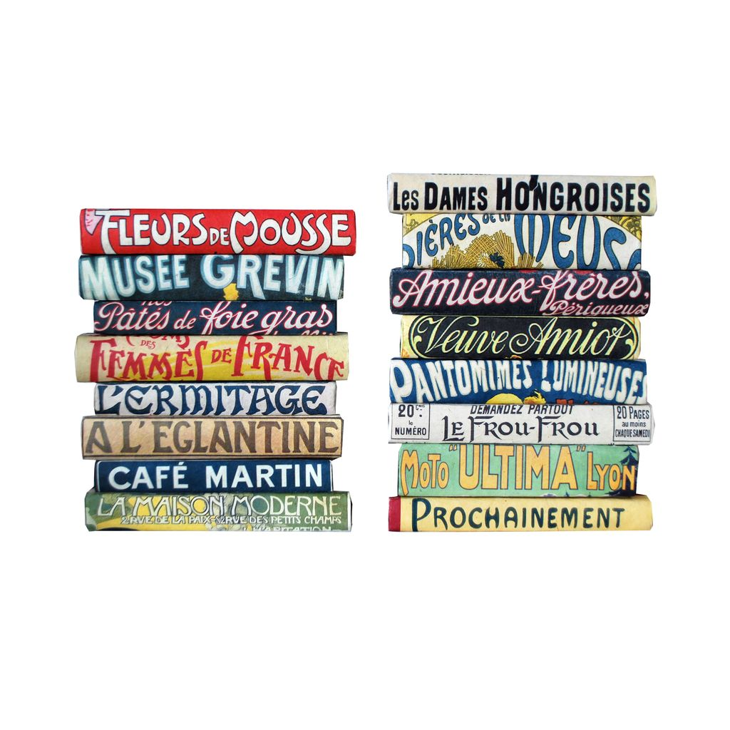 VINTAGE FRENCH ATTRACTIONS SIGNS SET OF 12 BOOKS