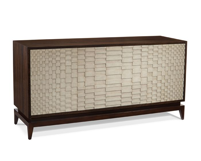 EUCALYPTUS AND SMOKY WHITE CREDENZA