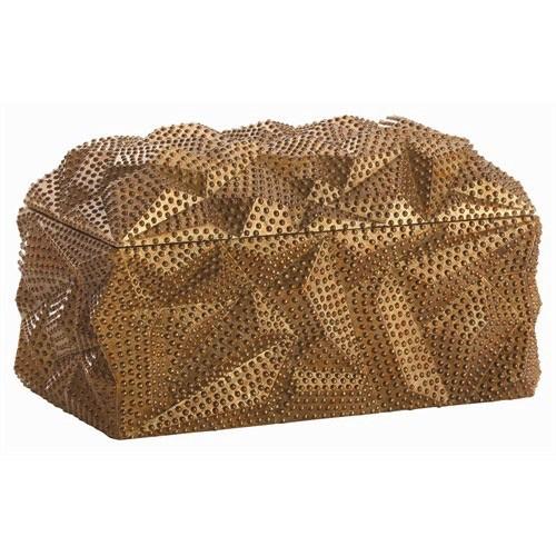 BAROQUE GOLD LEAF 7-INCH LIDDED BOX