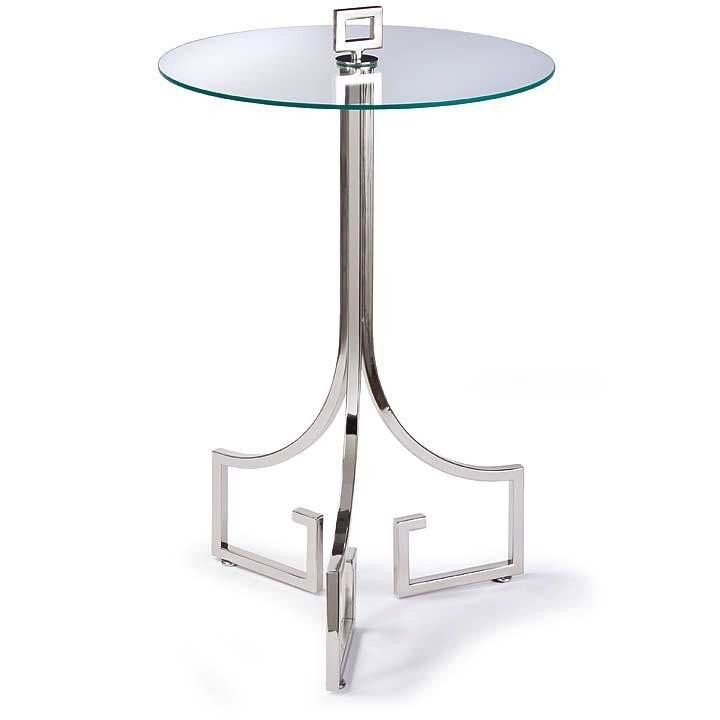 LE CHIC POLISHED NICKEL SIDE TABLE