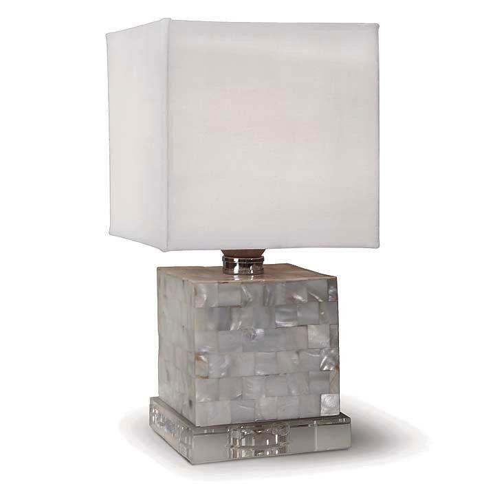 MOP MINI COBE LAMP WITH CRYSTAL BASE