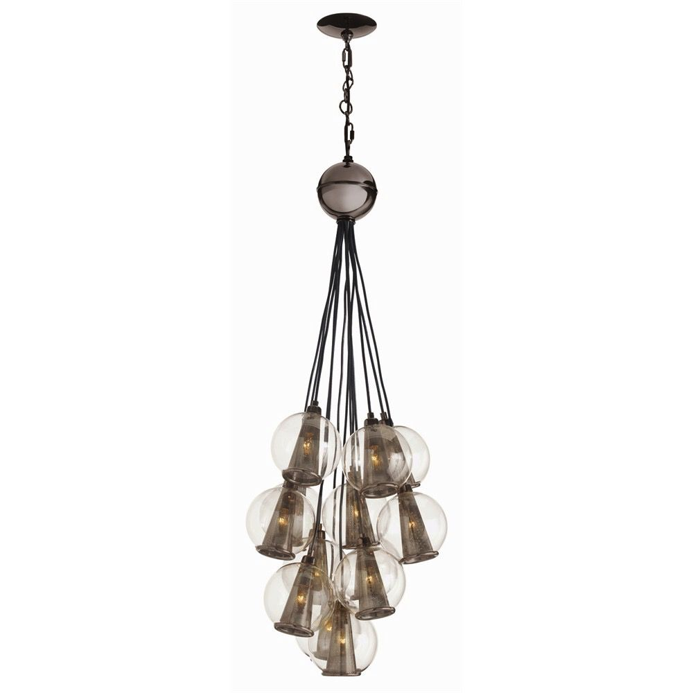 CAVIAR ADJUSTABLE SMALL CLUSTER IN BROWN NICKEL