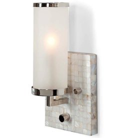 SQAURE MOTHER OF PEARL WALL SCONCE