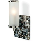 SQUARE ABALONE WALL SCONCE