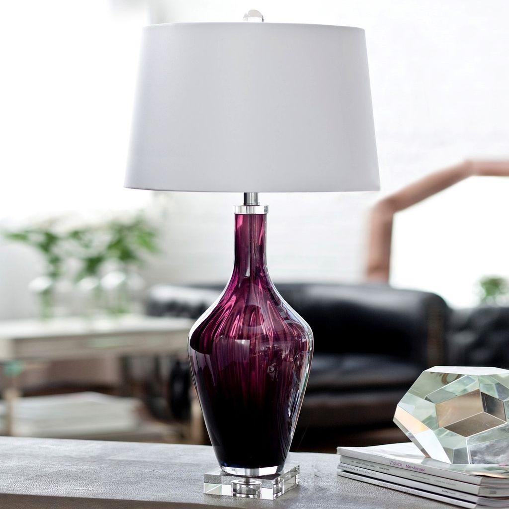 AMETHYST JEWEL GLASS LAMP