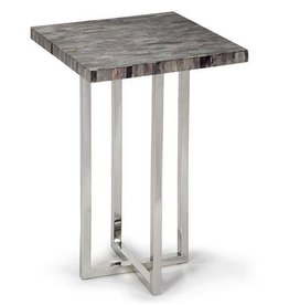 VINTAGE GREY MOSAIC BONE TOP TABLE