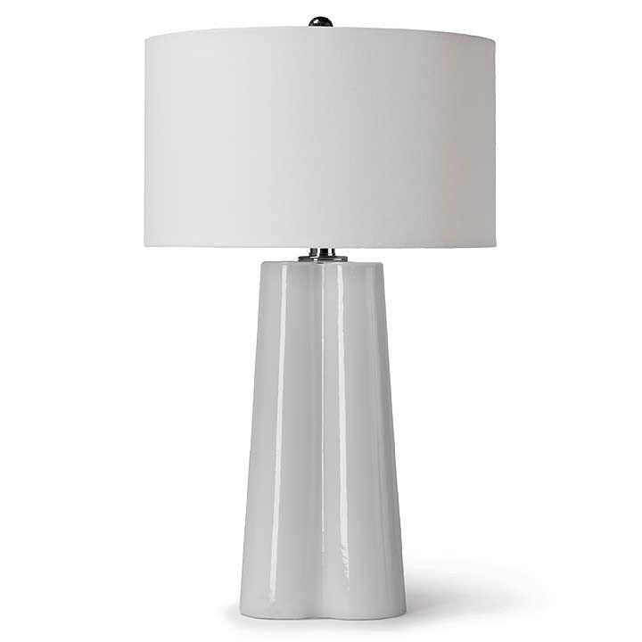 WHITE FOLDED GLASS LAMP