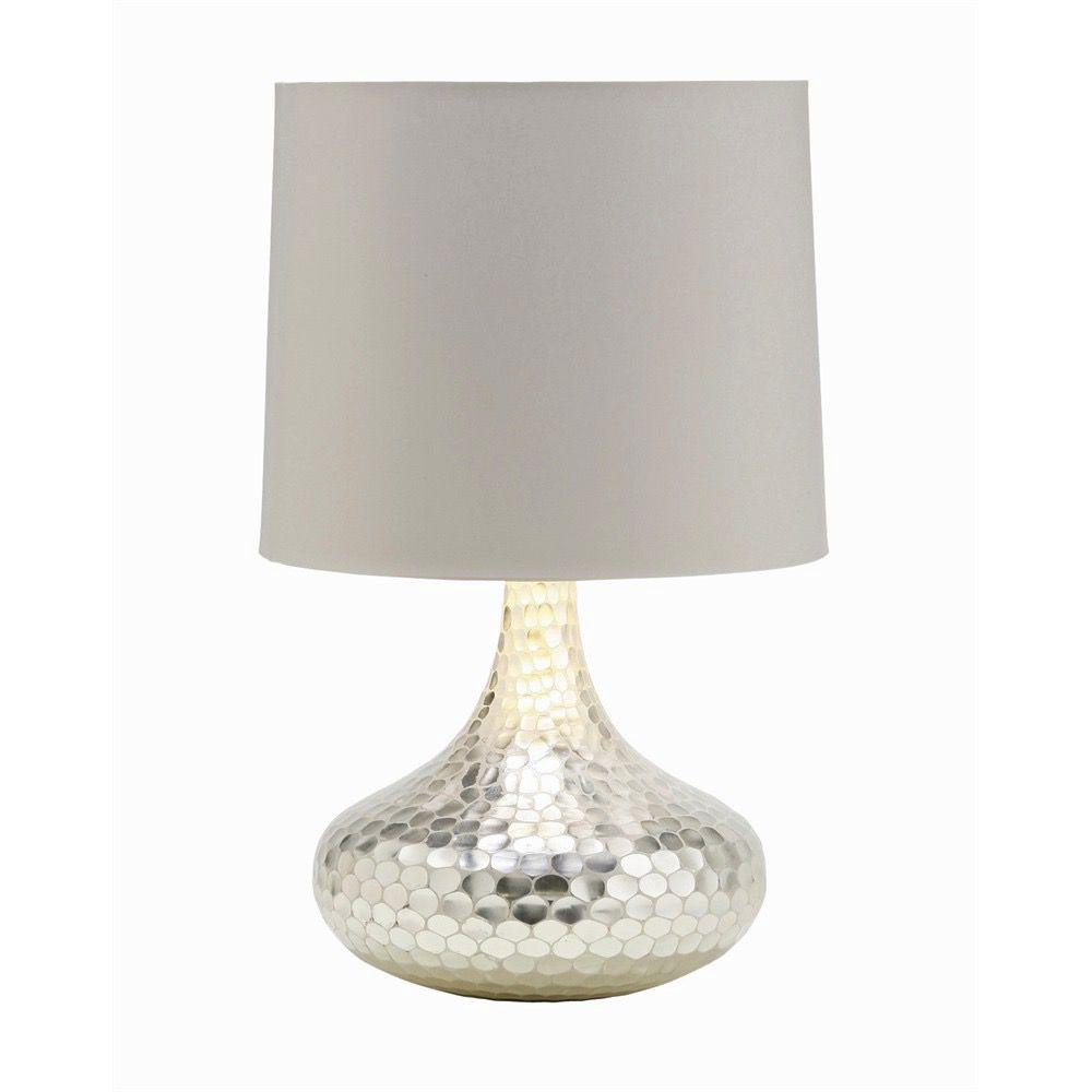 TORTOISE SILVER BOTTLE NECK GLASS LAMP