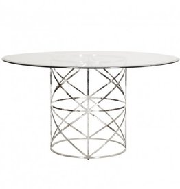 ANDERSON NICKEL DINING TABLE