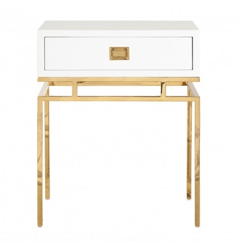 CAYSON BRASS SIDE TABLE
