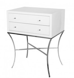 ELENA NICKEL SIDE TABLE