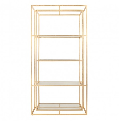 FLETCHER GOLD ETAGERE
