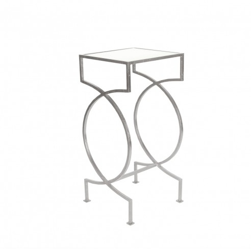 SAMANTHA NICKEL SIDE TABLE