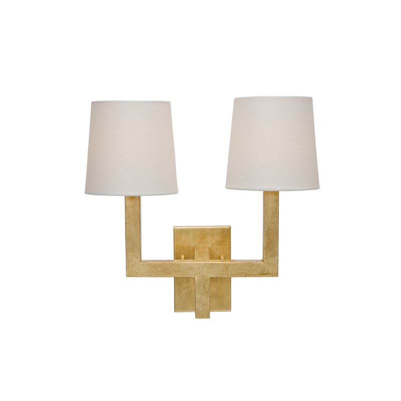 KENNEDY GOLD LEAF WALL SCONCE