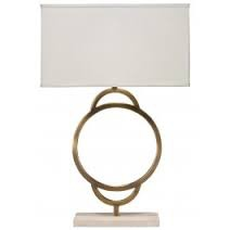 ARC TABLE LAMP W/ LARGE RECTANGLE SHADE