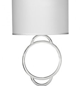 ARC TABLE LAMP W/ LARGE DRUM SHADE