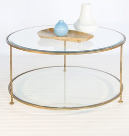 ROLLO ROUND GOLD COFFEE TABLE