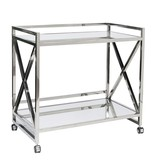 GERARD SILVER LEAF BAR CART