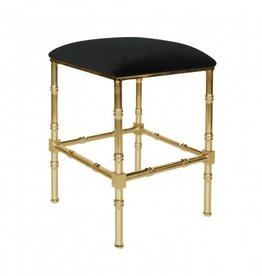 SADLER BLACK & BRASS COUNTER STOOL