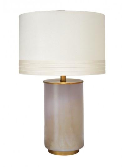 MEDIUM VAPOR TABLE LAMP w/ MEDIUM BANDED DRUM SHADE