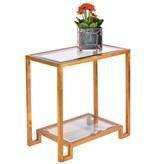DOMINO GOLD LEAF SIDE TABLE