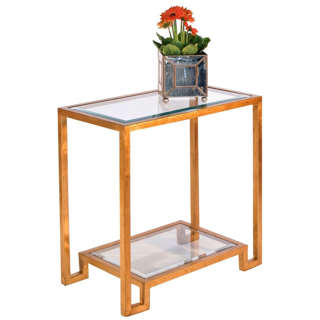 DOMINO GOLD LEAF SIDE TABLE