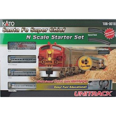 KAT-Kato USA Inc 381- N scale Santa Fe Super Chief StarterTrain Set