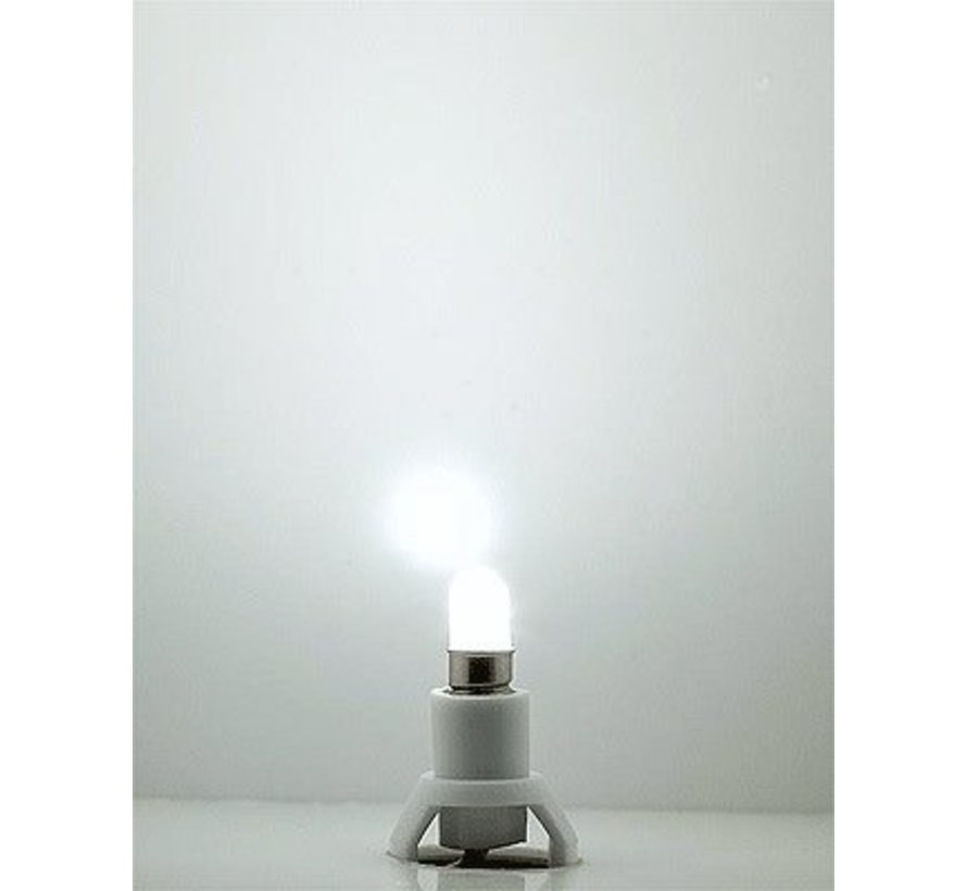 LED Building Interior Light w/Base -- White