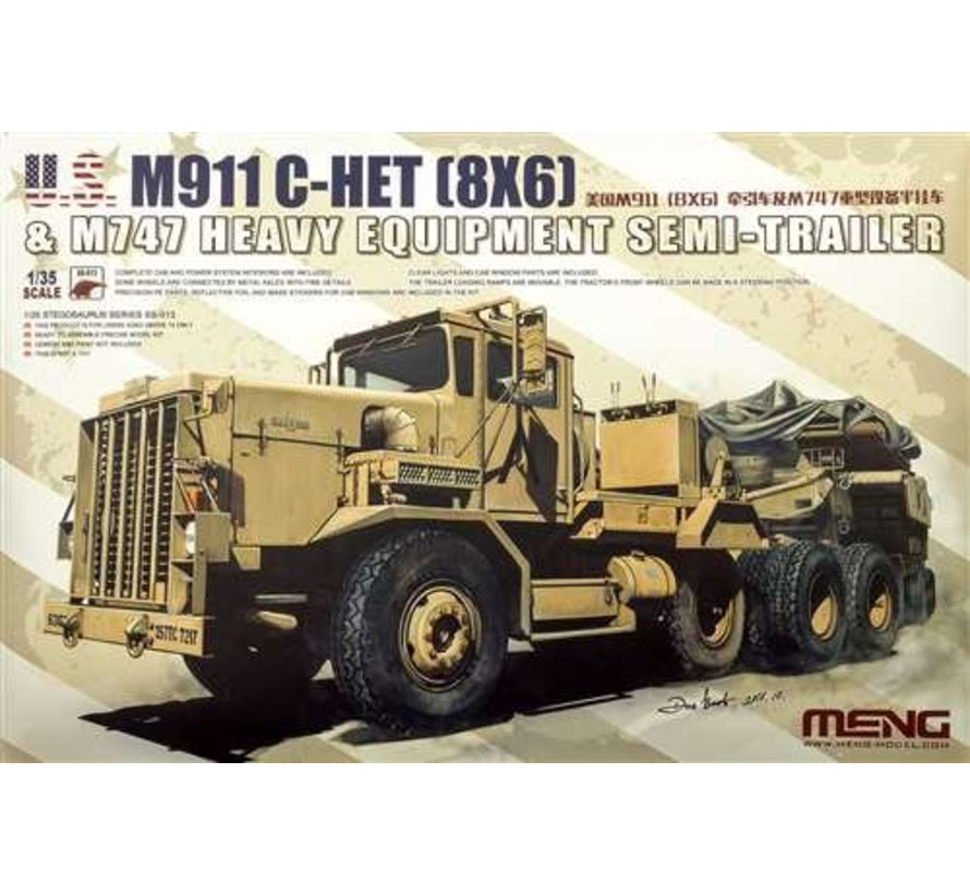 SS013 Meng 1/35 U.S. M911 C-Het & M747 Heavy Equipment Semi-Trailer - MMSS013
