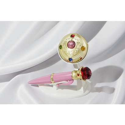 "Tamashii Nations 55055 Transformation Brooch & Disguise Pen Set ""Sailor Moon"", Bandai Proplica"