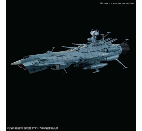 "BANDAI MODEL KITS 5055588 U.N.C.F. Andromeda Class DX ""Star Blazers 2202"", Bandai Star Blazers 1/1000"