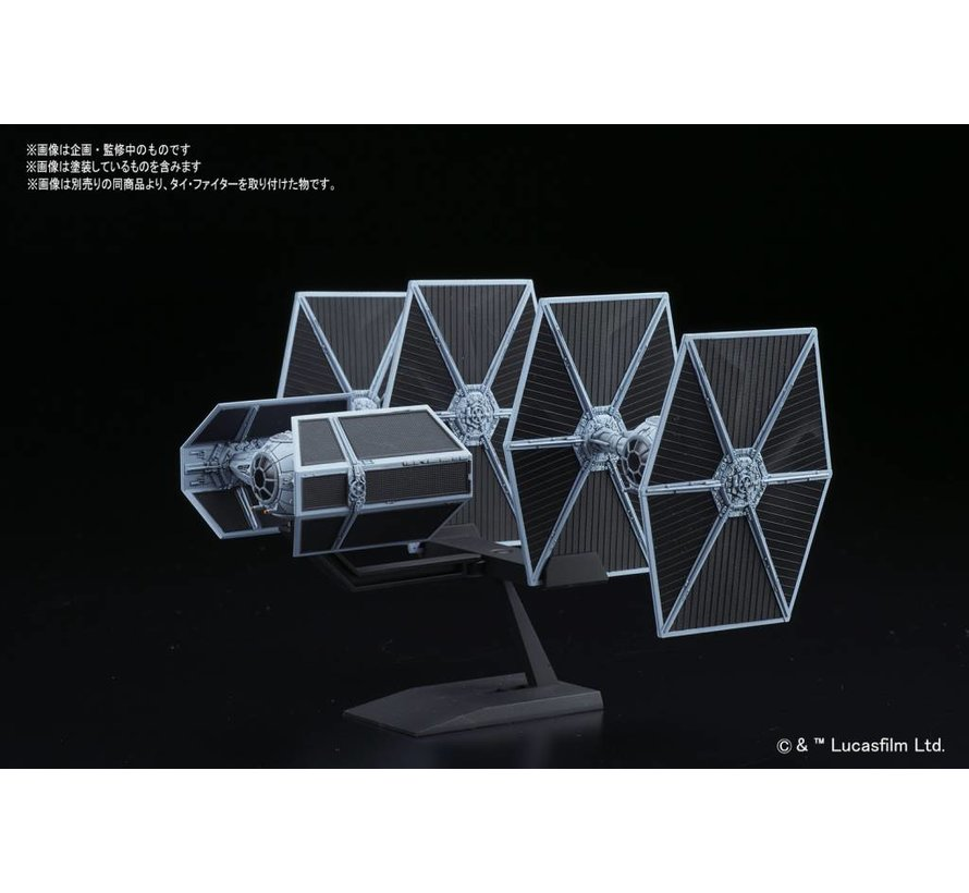 "214502 Tie Advanced x1 and Tie Fighter set ""Star Wars"", Bandai Star Wars 1/144"