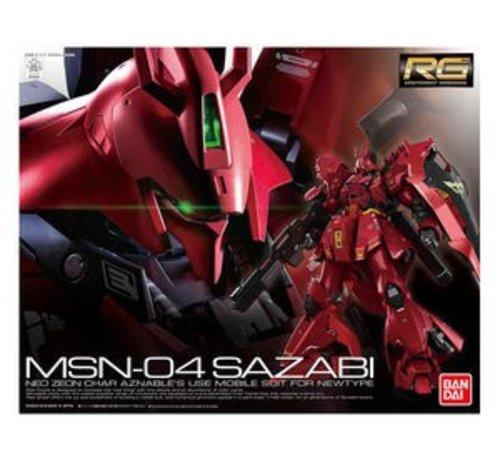 """BANDAI MODEL KITS 230363 #29 Sazabi """"Char's Counterattack"""", Bandai RG 1/144"""