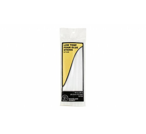 Woodland Scenics (WOO) 785- ST1446 Low Temp Foam Glue Sticks 10 pack