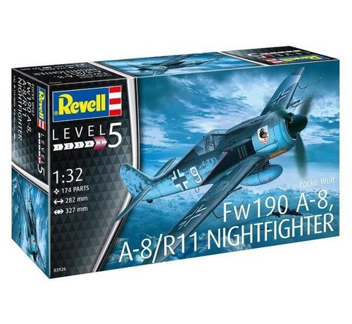 RVL- Revell Germany 03926 1/32 Focke Wulf FW 190 A-8 Nightfighter