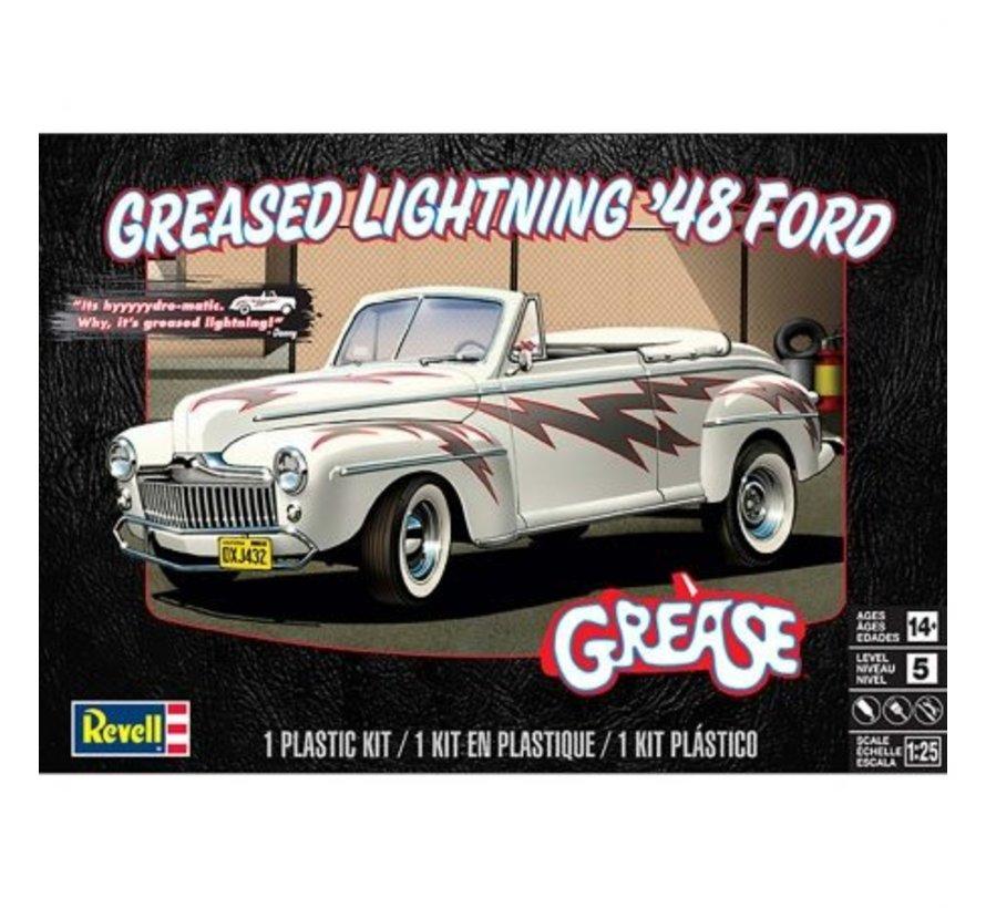 854443 1:25 Greased Lightning 1948 Ford Convertible Plastic Model Kit
