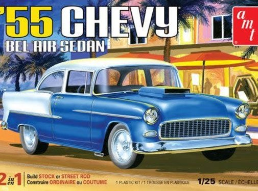 AMT Models (AMT) 55 Chevy Bel Air Sedan 1/25