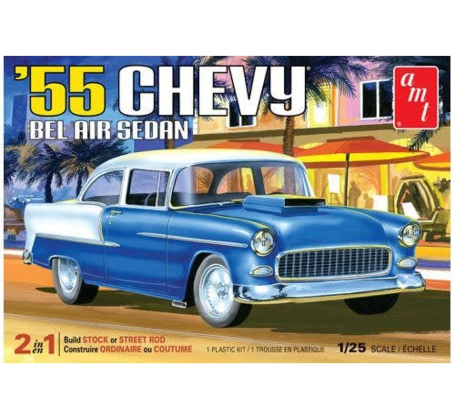 1119 - 1955 Chevy Bel Air Sedan 1/25 Plastic Model Kit