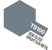 Tamiya (TAM) 865- 85100 TS-100 Semi-Gloss Bright Gun Metal 100ml Spray Can