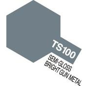 Tamiya (TAM) 865- 85100 TS100 Semi-Gloss Bright Gun Metal 100ml Spray Can