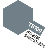 TAM - Tamiya 865- 85100 TS-100 Semi-Gloss Bright Gun Metal 100ml Spray Can